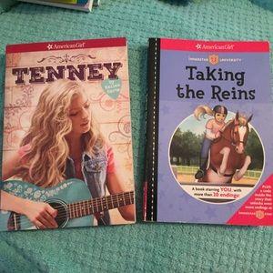2 American Girl books Tenney Taking the Reins EUC